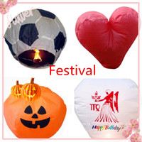 flying chinese lanterns - Chinese Paper Flying Lanterns Wishing Lantern Fire Balloon Colorful Multi shape Chinese Kongming Lantern Hot sale