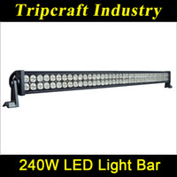 42 led light bar - 42 quot inch W lm LED Work Light Bar Off Road V Boat LED W Spot Flood Combo Beam Jeep Truck Lamp IP67 Super White