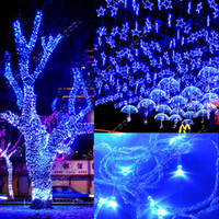 Wholesale 50M LED Blue Lights Decoration Wedding Fairy Christmas Tree Party Twinkle String Lighting EU TK0585