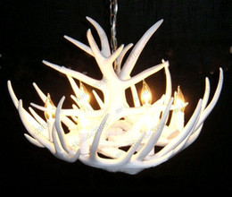 Wholesale Artistic White Antler Featured Chandelier With Lights Modern Chandelier Pendant Droplight MYY7325
