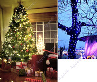 Wholesale 100M LED White Lights Decoration Wedding Fairy Christmas Tree Party Twinkle String Lighting EU TK0587