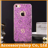 Wholesale Bling Dimond Skin Protectors Stickers For Iphone Glitter Glossy Full Cell Phone Decal