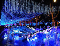 Wholesale 100M LED Blue Lights Decoration Wedding Fairy Christmas Tree Party Twinkle String Lighting EU TK0588