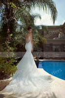 Wholesale Slim Fit Sweetheart Lace - Sweetheart wedding dress with pearls and sequins fitted on the front and back over a trumpet mermaid tulle skirt slim women wedding gown GL1