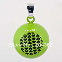 Pendant Necklaces Children's Fashion New Promotion Baby Pendant CGC-T3, Fashion 1pc 925 Silver Harmony ball Pendant Assorted Colorful Cartoon Hearts Pattern Charms