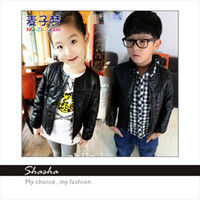 Jackets Unisex Spring / Autumn 2014 New korean kids clothes boys winter coats children's clothing childrens baby christmas girls clothes girl leather warm jacket so cool