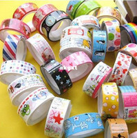 New: A -new, unused, unopened, undamaged New  Wholesale -10 Rolls of Kawaii Lovely Deco Cartoon Tape Scrapbooking Adhesive Paper Sticker#G681