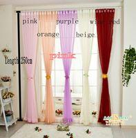 Wholesale Hot Sale Europe gauze curtain Length cm different color can choose