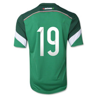 Wholesale Top Thai Quality Mexico Home Green Color O PERALTA Soccer Jersey Soccer Wears Soccer Jersey