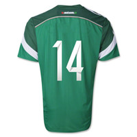 Wholesale Top Thai Quality Mexico Home Green Color CHICHARITO Soccer Jersey Soccer Wears Soccer Jersey
