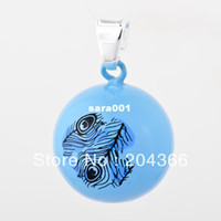 Pendant Necklaces Children's Fashion New Promotion Baby Pendant CGC-T4, Fashion 1pc 925 Silver Harmony ball Pendant Assorted Colorful Cartoon Pattern Charms