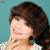 Wholesale 2013 New real Hair visor women s mink fur hat crownless marten hat Women winter