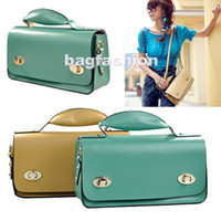 Wholesale prefect genuine leather bag briefcase lady message bags great handbag Women Girls Retro OL Tote Abia