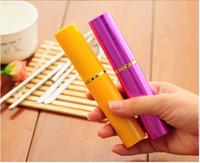 Wholesale 10pcas Travel portable environmental protection tableware three piece suit Spoon chopsticks fork