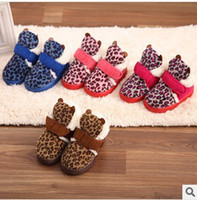 Winter Snow Boots Ankle Children's Boot Children boots Leopard boots Children's cotton shoes