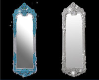 Wholesale Swarovski lady cosmetic mirror Diamond crystal mirror royal cultivate one s morality pier glass fitting room big mirror creative gifts
