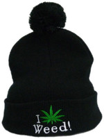 Fleece Hats Unisex Embroidered I Love Weed Beanies Snapback Hats Outdoor Knitted Beanies Snapbacks Hats Sport team Caps Wholesale Cheap Snapback Free Shipping
