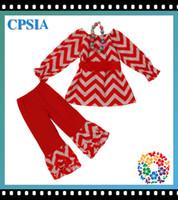 Girl chevron clothing - Chevron baby s suits brand new girls chevron clothing set long sleeve blouse with ruffled pants DHL sets