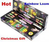 Link, Chain Unisex Rubber Best promotion Price rainbow loom bands Kit DIY looming kits Hot christmas gift present