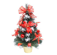 Christmas Tree   5pcs Christmas table decoration bonsai trees window display table layout free shipping