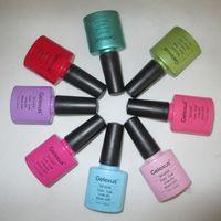 Soak-off Gel Polish Led uv gel 47 Colors 12pcs lot uv&led soak off nail gel polish ( Free Shipping+10pcs color gel+1pc top coat+1pc base)