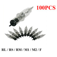 Makeup Rotary Machine Needle makeup permanent makeup kit - 100x Permanent Tattoo Makeup Eyebrow Needles Assorted Sizes For Rotary Machine Pen Power Footpedal Kits Supply