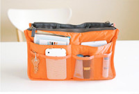 Women handbag organizer - Colors Korean Storage Organizer Multi Purse Travel Insert HandBag Phone Ipad Dual Bags in Bag
