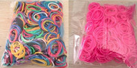 Wholesale Hot DIY Rainbow Loom Refill Bands Rainbow Loom Bracelet for kids DIY bands C clips in each bag Various Colors DHL Free