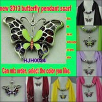 Red pendant scarf - Jewellery pendant scarf new scarf scarf butterfly pendants colors mixed FEDEX DHL UPS HJH0034