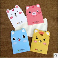 Notes bear notepads - Pig bear tiger rabbit four cartoon suture line of the car Notepad Notebook Korea South Korea stationery gift stationery school