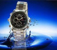 Wholesale mini hidden watch camera metal SC watch bulit in GB spy watch Mini HD Waterproof Camcorder Watch Video Recorder Hidden Watch Cam