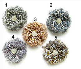 Boutique DIY hair accessories parts bead diamond leopard print flower headband hair band accessory diy hair jewelry headwear Clothing hat