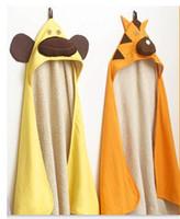 Wholesale Baby hooded bathrobe warm blanket New Animal baby robes towels bathing towels colors CDM280H