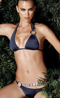 Wholesale 2012 luxurious texture perfect temperament dark blue sexy bikini swimsuit B112