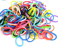 Wholesale 100packs color mix pack RAINBOW LOOM RUBBER BAND REFILL WITH S CLIPS
