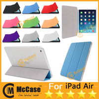 Wholesale Smart Cover For iPad Air iPad iPad Mini Protective Cases With Auto Wake Up Sleep Function Mixed Color DHL Freeship