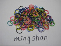 """8-11 Years Multicolor Rubber Rainbow Loom glow in the dark Mixed color bands (300 Bands & 12 """"S"""" Clips)   bag"""
