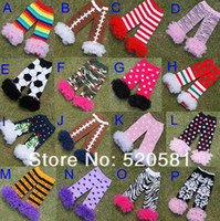 Wholesale fluffies chiffon ruffle football lace leg warmers for baby girls Zebra kids and baby ruffled leggings colors