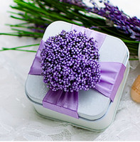 Wholesale Love Story Wedding Favor Holders Gift Boxes Square Desgin Wedding Tin Candy Boxes