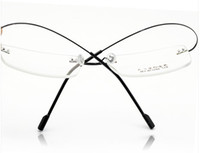 Wholesale Metal optical frames Rimless Eyeglasses frame alloy glasses frames with good design