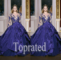 Cheap Reference Images 2015 Zuhair Murad Best Scoop Tulle Long Sleeve Evening Dress Formal