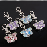 Wholesale Butterfly Cover Girls Quartz Keychain Pocket Watches WX0026