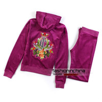 Wholesale Velour Tracksuits Womens Top Quality Hooded Sweatsuits Long Sleeve Jogging Pink Sweat Suits Hoodies Suits Sportswear