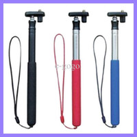 Wholesale 180 degrees Self portrait Camera Tripod Telescopic Monopod for Digital Camera Monopod Tripod Head Handheld PTZ camera portable mount tripod