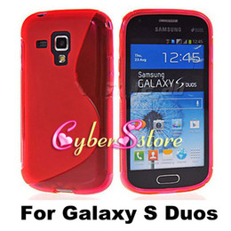 Wholesale S Line Wave Clear Crystal Soft TPU Gel Case Cover For Samsung Galaxy Trend S Duos S7562