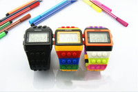 Wholesale 13 Color Rainbow LED Digital Watch with Stopwatch Watches for Women Men Unisex Children GIFT The Cheap Hours DHL free best2011
