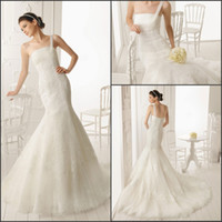 Wholesale Good Shape Wedding Inexpensive One Shoulder Applique Sweep Length Mermaid Wedding Dresses Vogue Lady s Wedding Bridal Gowns
