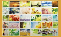 Valentine's Day Scenic Single-page Type [Daisyland] Tagore - The Gardener Poem boxed postcards high quality 30pcs set gift greeting card Birthday card Free Shipping