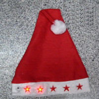 Wholesale LED light christmas hat flashing hat santa cap Christmas decorations gift Christmas hats