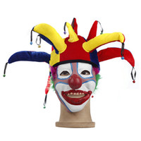 Wholesale 5set Cosplay Accessories Clown hat mask party Props christmas Halloween supplies